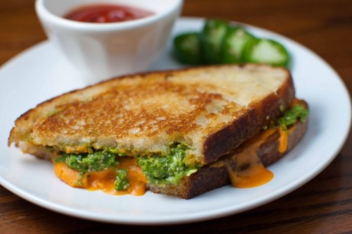 boyfriendreplacement:  Vegan grilled cheese with spicy cilantro jalapeno pesto Recipe