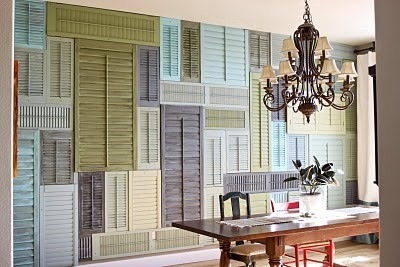 An interesting way to re-use old shutters
