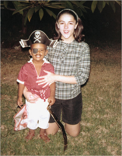 Barack Obama with his mother in Hawaii.