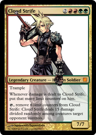 Another mash up for your enjoyment: Magic the Gathering vs Final Fantasy VII