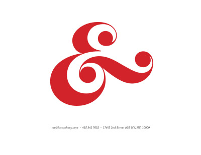Just look at that ampersand. lucassharp:  Now available for purchase!
