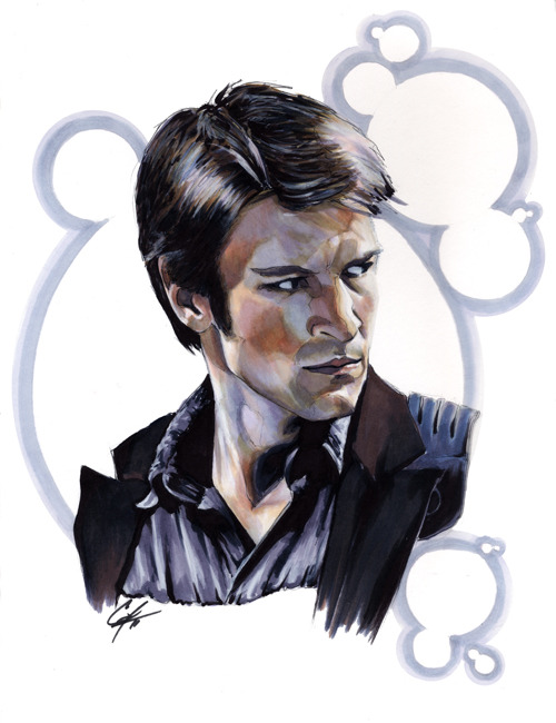 lovableraincould:  Malcolm Reynolds by gattadonna  fan art is always great art.