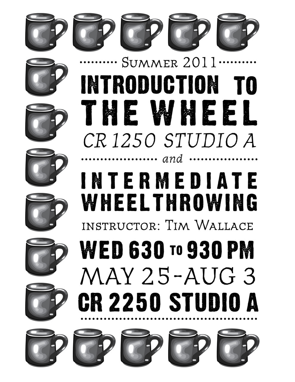 Corcoran College of Art + Design // Ceramics Course Flyer // Tim Wallace