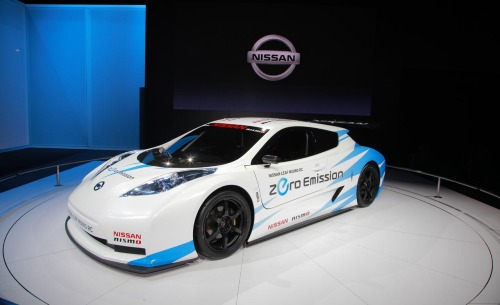 Racing Competition The Leaf Nismo RC is a stripped-out racing version of the Japanese automaker's EV production car. Nissan is serious; the Leaf RC has a carbon-fiber monocoque chassis, removable front and rear bodywork, and driver-adjustable wing.