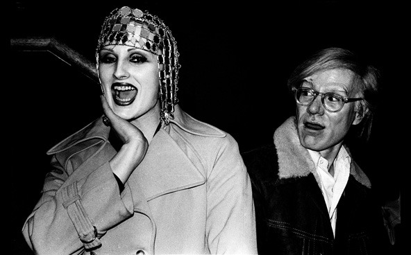 anneyhall:  Candy Darling + Andy Warhol  Photo by Anton Perich