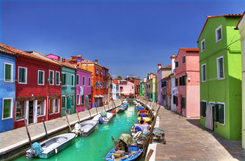 sunsurfer:  Colorful Canal, Burano, Italy  photo by edgarmoskopp