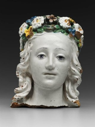 Head of FloraFlorence, Italy 1400-1500Glazed terracotta MFA Boston