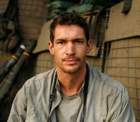 lady-lutra:  British journalist Tim Hetherington dies in Libya A British journalist has been killed while covering the conflict in the besieged Libyan city of Misrata. Tim Hetherington, co-director of Oscar-nominated documentary  Restrepo, reportedly died in a mortar attack, which injured three other  journalists.