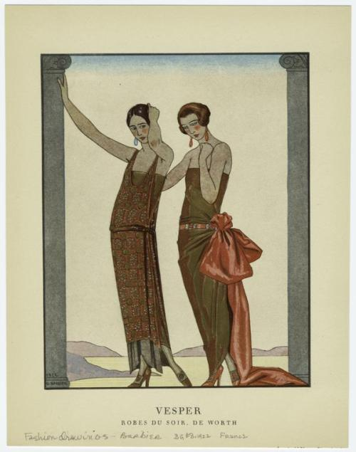 Ballgowns by Worth, 1922 France, Gazette du bon genre
