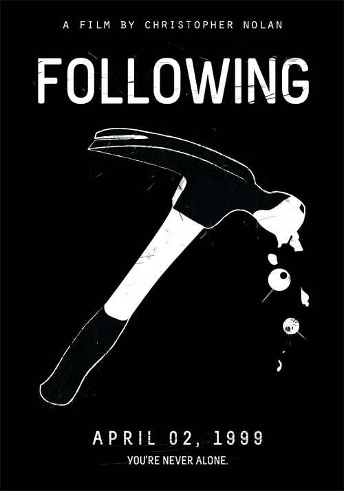 Following (1999)Christopher Nolan's Films in Black & White Poster Set ( 1 of 8 )Buy Print   |   By Edson Muzada