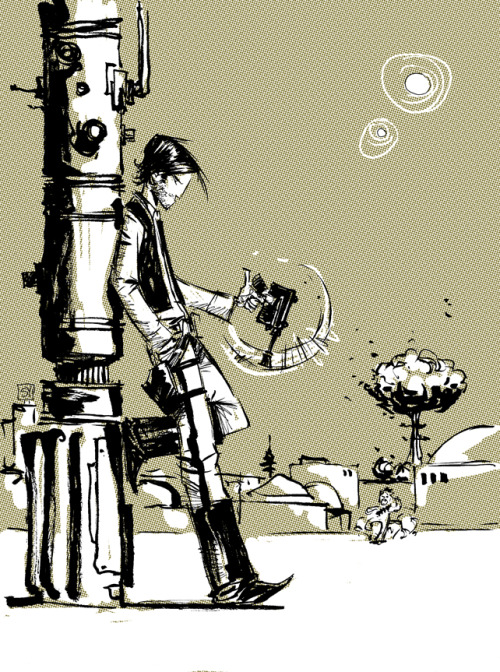 xombiedirge:  Han Solo by Skottie Young. Skottie is pretty much unstoppable at this point.