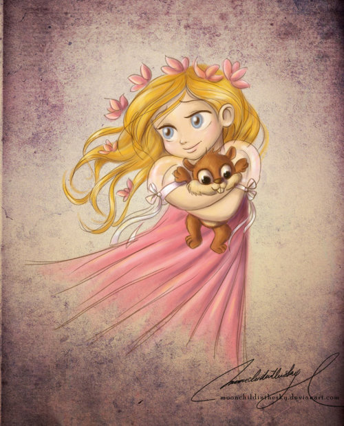 Child & Plushie Theme: Giselle & Pip - moonchildinthesky|deviantart