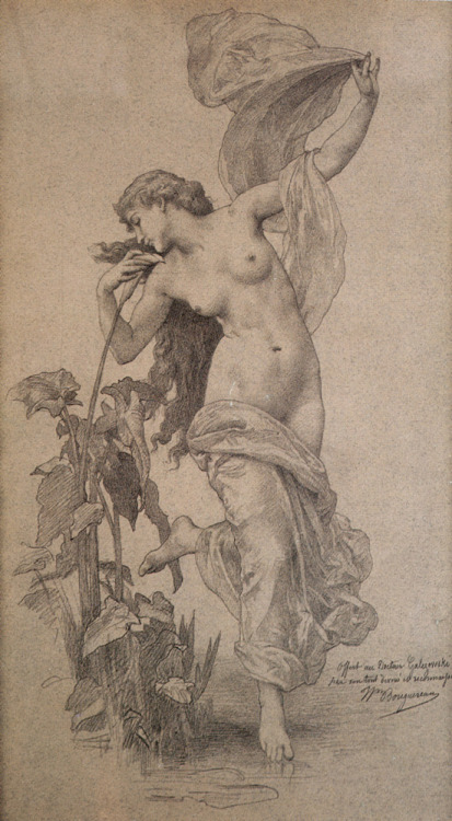 L'aurore - Pencil on paper - William Adolphe Bouguereau (1825-1905)