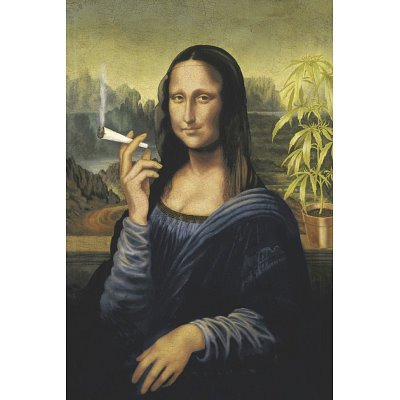Mona Lisa (Smoking Pot) Art Poster Print