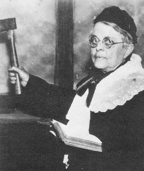 "Carrie Nation — 6'0"" CRAZY TALL LADY!  Carry Amelia Moore Nation (November 25, 1846 - June 9, 1911) was a member of the temperance movement, which opposed alcohol in pre-Prohibition America. She is particularly noteworthy for promoting her viewpoint through vandalism. On many occasions Nation would enter an alcohol-serving establishment and attack the bar with a hatchet."