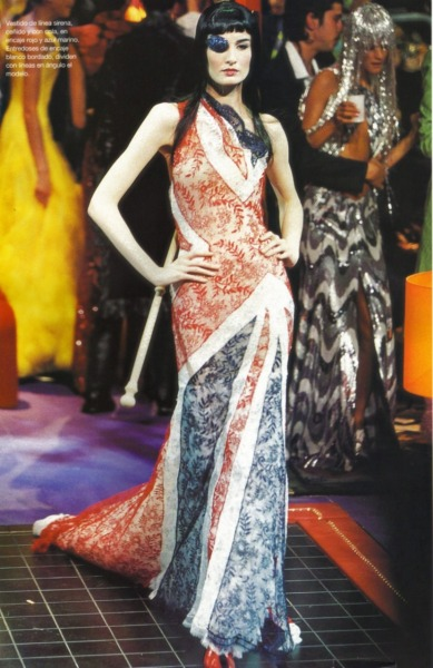 Givenchy Couture Fall 2000 by Alexander McQueen scanned by me