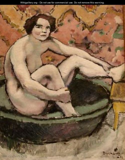 Nude Seated in a Bathtub (1910)
