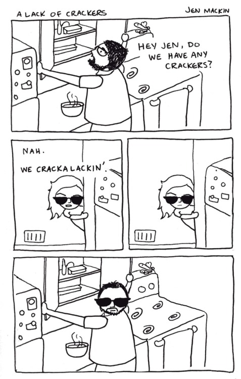 "iheartchaos:  Sunday morning comics: ""A lack of crackers""  Oh my god."