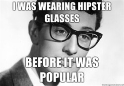 fuckyeahbuddyholly:  TRUE STORY THOUGH. As was Bo Diddley :D  Buddy was into rock n' roll before it was popular. Also true. ;D