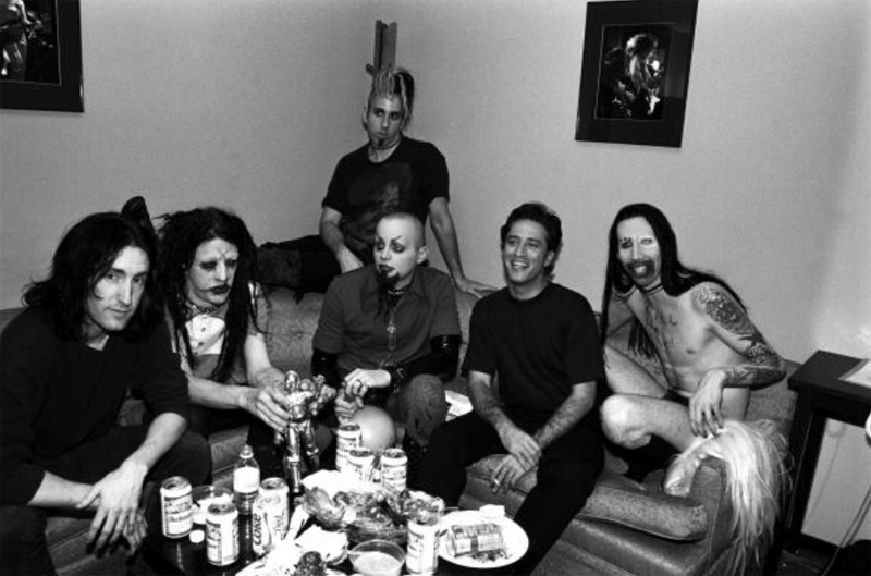 Trent Reznor, Jon Stewart and Marilyn Manson