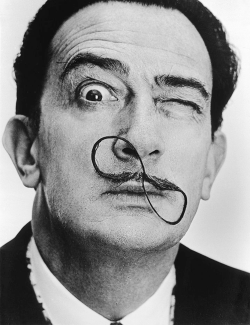 Salvador Dali, 1954. Photographed by Philippe Halsman.  Great moustaches in history: Salvador Dali.