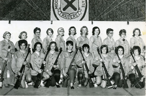 Middle Tennessee State University Raiderette Rifle Team, 1959.