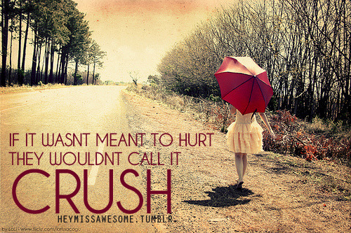 if it wasnt meant to hurt they wouldnt call it crush photocredit:inspiring-pictures.com