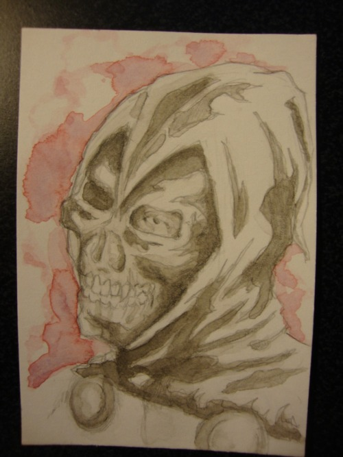 2x3 inch Taskmaster watercolor