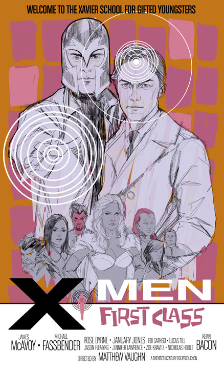 philnoto:  X-MEN FIRST CLASS poster - Thanks to Jamie McKelvie for putting the idea in my head.