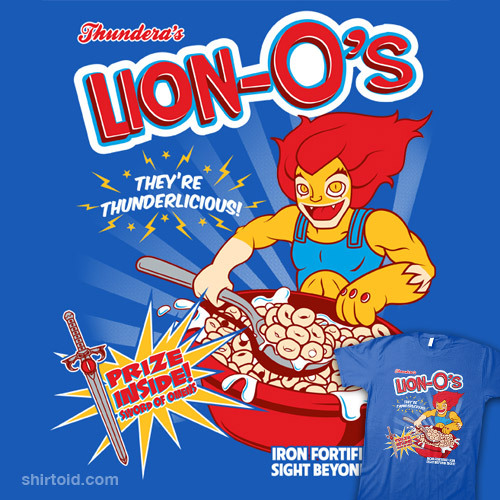 shirtoid:  Lion-O's Cereal available at RedBubble