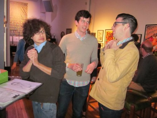 Jesse Elias, David Cairns and Moshe Kasher by. Leslie Winchester  [Three of my favourites. Jesse's expression is priceless]