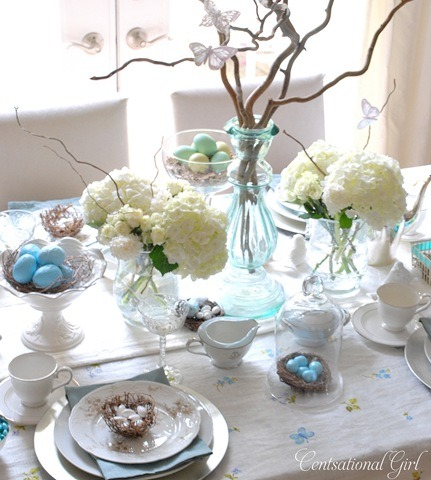 turquoisetulipsandbliss:  Thursday's Table - Set for Easter!