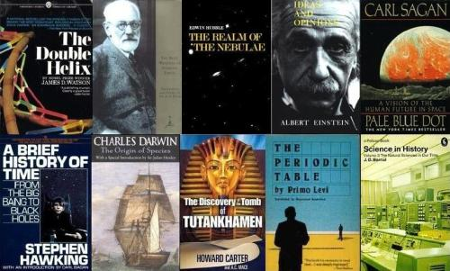 physicsphysics:   25 Great Books By Legendary Scientists  From Darwin and Einstein to Hawking and Sagan, here are twenty-five amazing books written by world-famous scientists. These are legendary texts, popular science explainers, personal memoirs, and controversial new theories, and they're all enduring monuments to the power of science.  Source : io9   Worth checking out, definitely some solid summer reading on this list.