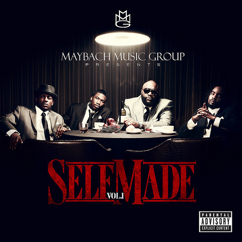 Maybach Music Group Presents: Self Made Vol. 1 (Tracklisting & Production Credits)1. Self Made (Wale, Meek Mill, Pill & Rick Ross Feat. Teedra Moses) (Produced By Just Blaze)2.Tupac Back (Meek Mill & Rick Ross) (Produced By Mill Will of Eardrummers)3. 600 Benz (Wale & Rick Ross) (Produced By Cardiak)4. Pacman (Pill, Rick Ross Feat. Diddy) (Produced By Young Shun)5. Malcolm X (Wale, Meek Mill, Pill & Rick Ross) (Produced By Lil Lody)6. Fitted Cap (Wale, Meek Mill, Rick Ross Feat. J. Cole) (Produced By Beat Billionaire)7. Work (Meek Mill & Rick Ross) (Produced By Lex Luger)8. Destiny (Wale Feat. Drake (Produced By DJ Toomp)9. Rise (Pill & Wale Feat. CyHi Da Prince, Curren$y & Teedra Moses) (Produced By Cardiak)10. That Way (Wale & Rick Ross Feat. Jeremih) (Produced By Lex Luger)11. Let Me Know Something (Masspike Miles & Wale) (Produced By Joe Lindsay)12. I'm A Boss (Meek Mill & Rick Ross) (Produced By Jahil Beats)13. Don't Let Me Go (Pill & Gunplay) (Produced By The Inkredibles)14. Pandemonium (Wale, Meek Mill & Rick Ross) (Produced By The Inkredibles)15. Play Your Part (Rick Ross, Meek Mill & Wale Feat. D.A. of Chester French) (Produced By The Inkredibles)16. Ridin On Dat Pole (Pill) (Produced By Beat Billionaire)17. Big Bank (Pill, Meek Mill & Rick Ross) (Produced By Young Shun)18. Black Panamera (Magazeen) (Produced By Kontrakt Hitz)19. Running Rebels (Wale, Meek Mill & Teedra Moses) (Produced By Tone P) MMG is set to release their debut compilation album Self Made on May 24th, features on the 19-track collection will include Drake, J. Cole, Jeremih, Curren$y, CyHi Da Prynce and more. Rick Ross is known for his great production ear and it continues here with Just Blaze, The Inkredibles, Lex Luger and Cardiak to name a few who'll be helming the sounds on the album.