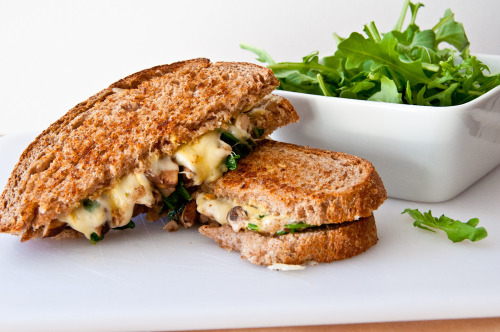 """Jarlsberg Grilled Cheese with Arugula and Truffle Oil"" Click photo for recipe!"