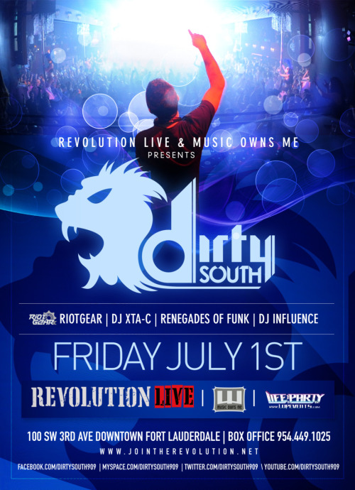 July 1st….Dirty South is coming to Revolution!!!!  Tickets Start at $30!
