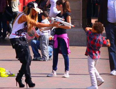 amariesworld:  Beyonce And Her Nephew Julez At Disney Land In Paris :)