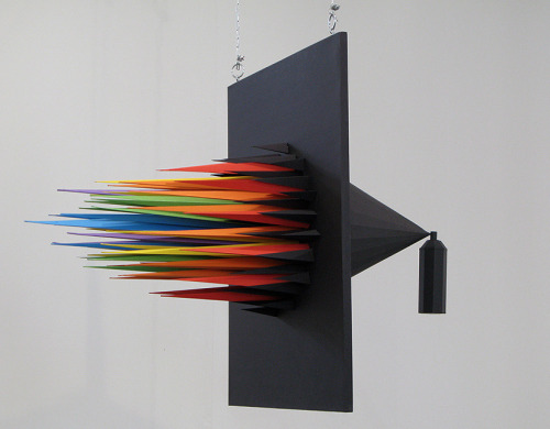 Spray Can Paper sculpture created by Julien Vallée for the main exhibition of Illustrative Zürich festival 2008.