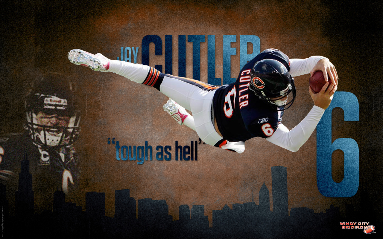 """Jay Cutler (Tough as Hell) Wallpaper"" 