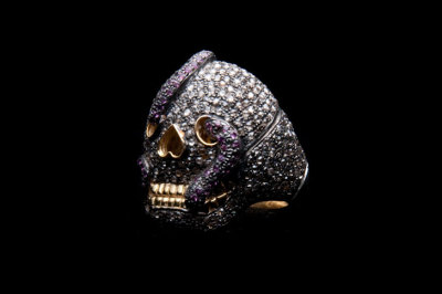 Loren's Jewels - Pave Diamond Skull Ring