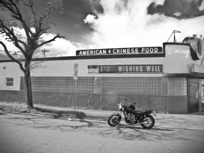 Pulled over and grabbed a shot of my bike outside the Wishing Well in St. Johns, Portland OR. 1980 Yamaha XJ Maxim 650.