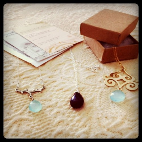 Handmade treasures, all via Heartsy deals. Happy early birthday to me! (Taken with instagram)