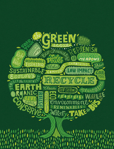 Earth Day Cover (by Linzie Hunter via typostruction)  Here's to hoping that the world is able to really put these into motion and making our planet a better and more healthy place. Happy Earth Day 2011 everyone.