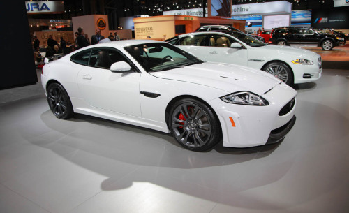 Albino cat The white 2012 Jaguar XKR-S shown at the New York Auto Show is the car many people said they'd like to take home. This is an utterly stunning car and, judging from the specs, should be even more thrilling to drive.