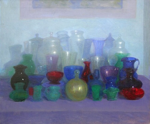 Feodor Zakarov Still Life with Glass Vessels 20th century