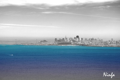 San Francisco, blanck and color