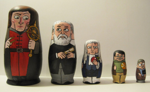 Astronomer matryoshka. Sagan's thumbs up is brilliant.