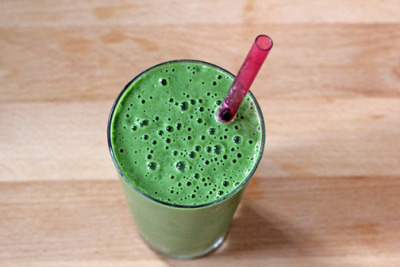 Green Kale Smoothie. A healthy, green treat for Earth Day! Recipe