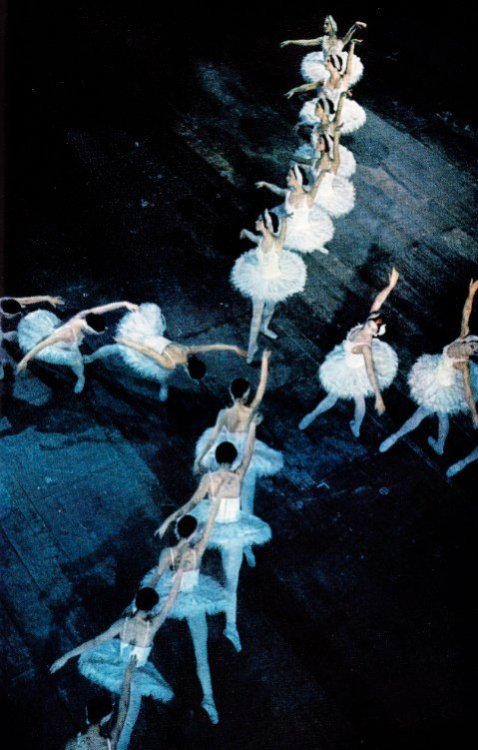 nationalgeographicscans:  Royal Danish ballet performing Tchaikovsky's Swan Lake. February 1974