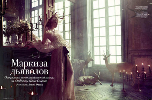 """маркиза дьяволов (Marquis Devils)"" Tatler Russia, May 2011 photographer: Bruno Dayan Ilse de Boer Valentino, Spring 2011 Couture Ilse de Boer by Bruno Dayan for Tatler Russia May 2011"